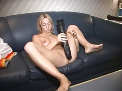Big Dildo And Machine Fuck