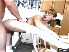 Sharing Teen In Kitchen