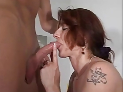 German Hairy Mom Gets A Hard Fuck With Young Man