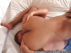 Dominant Black Woman Facesits An Older Guy