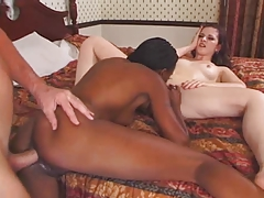 Caroline Pierce Interracial 3some