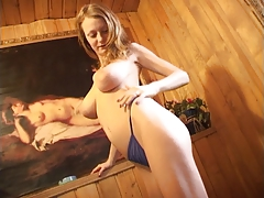 Marina Strips In A Wooden Room