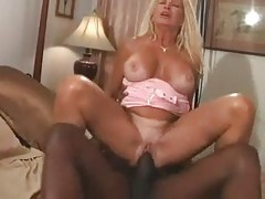 Hot Busty Blonde Granny Bangs Bbc