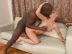 Czech Whore Bends Over To Take A Big Black Cock From Behind