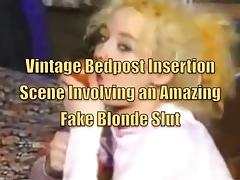 Vintage Bedpost Insertion Scene