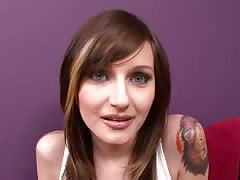 Cute Tattooed Brunette