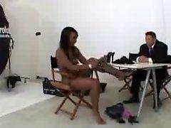 Ebony Teen And White Teacher