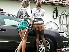 Fancy Lesbians Have A Sexy Carwash
