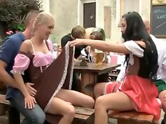 German Theme Drinking Party Turns Into Orgy In Dirndl