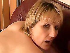 Mature On The Sofa Masturbation