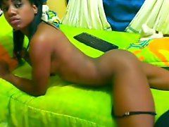 Ebony Slim Freak Teasing Showing & Touching