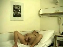Horny Old Lady Masturbating In Hospital Room