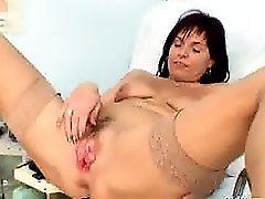 Livie Gyno MILF Pussy Speculum Exam On Gynochair