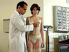 Cute Looking Hottie With A Nice Rack Gets A Weird Breast Examination From Her Doc