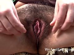 Hairy Babe Khatherina Gets Hot As The Fire