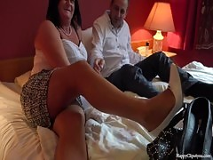 George And His Friend' S Mom Taboo Session Footjob Handjob