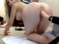 Blonde Babe Sex Machine