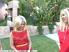 Innocent Blonde Cheerleader Learns How To Fuck And Suck