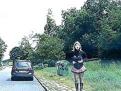 Rubberdoll Monique Rubberwhore Hooker On German Streets