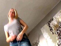 German Blonde Sucks A Cock And Fucks In Dolce Vita