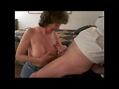 Mature With Nice Tits Gives A Great Blowjob