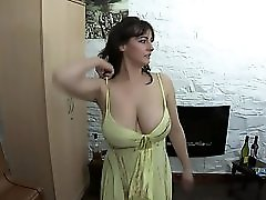 Downblouse Dancing And Drinking Wine