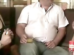 Fat Man Have Fun With 2 Crossdresser
