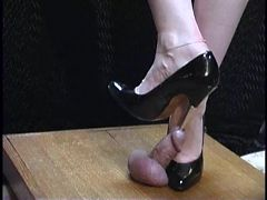Sexy Heels Used To Torture Cock