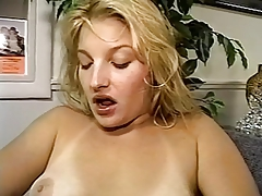 Blonde Masturbates With A Pink Dildo Sucks Dick And Finishes Herself Off