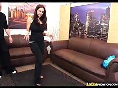 Latinfixation Busty Milf Ava Addams Strips Sucks And Rides Cock
