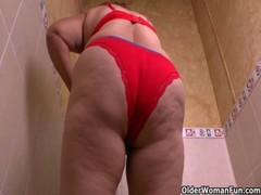 Granny Maribel&#039 S Cleaning Turns Into A Masturbation Fest