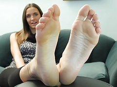Sexy Brunette Soles & Toes 1