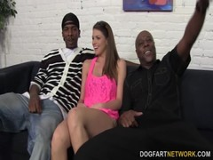 Brooklyn Chase&#039 S First Interracial Gangbang