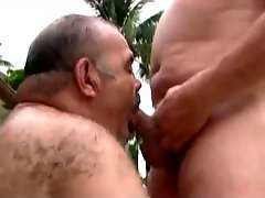 Two Horny Daddy Bears Going At It