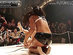 Big Booty Oil Wrestling In Japan With Slow Mo