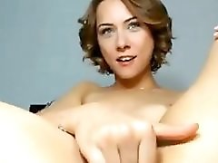 Shorthair Girl Play Her Delicious Pussy On Webcam Show