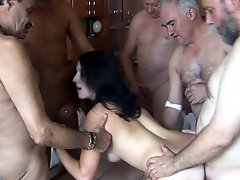Cute Teen Gets Gang Banged By Old Mature Men