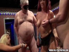 Gangbang Stars Gangbang Fuckers At A Real Sex Club