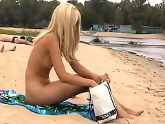 Nude Beach Cute Tall Blond