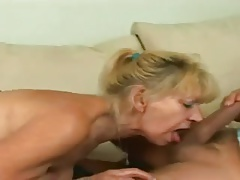 Blonde Granny Hairy Pussy