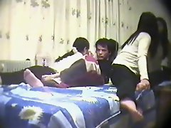 Chinese Amateur Threesome Lucky Guy Part 1