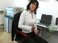 Mature Office Masturbation