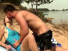Nude Beach Cute Enthusiastic Teen Fucked