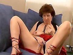 British Granny Plays And Talks Dirty