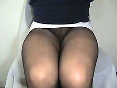 Crossdresser Erica Pantyhose Legs