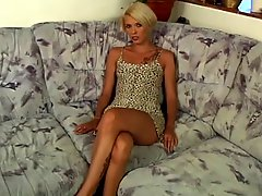 Short Haired Blonde Tattoo Slut Is A Dp Anal Whore For Guy