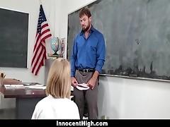 Innocenthigh Teachers Pet Gets A Creampie