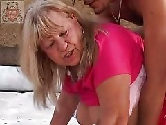 Mature Full Mummy Seduces The Son's Friend At The Thrown Factory
