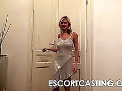 Big Breast Escort Fucked In Ass And Creampie