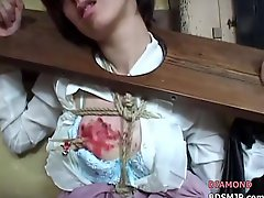 Submissive Maid Bound And Fucked